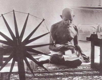 Grandes hombres vegetarianos,Ghandi